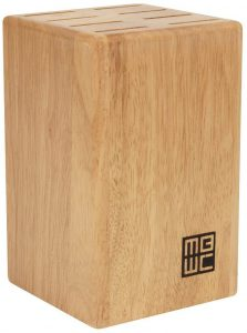 "Miracle Blade 8-Piece Steak Knife Block for 4"" Steak Knives, Wood Natural Finish"